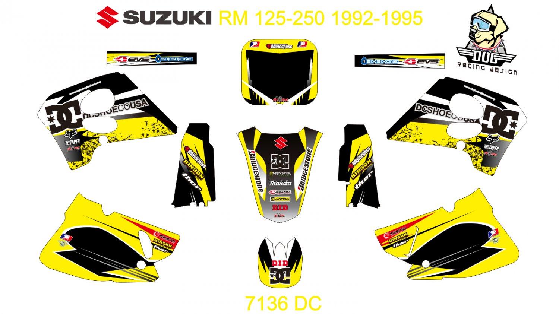SUZUKI RMX 125-250 1992-1995 GRAPHIC DECAL KIT CODE.7136