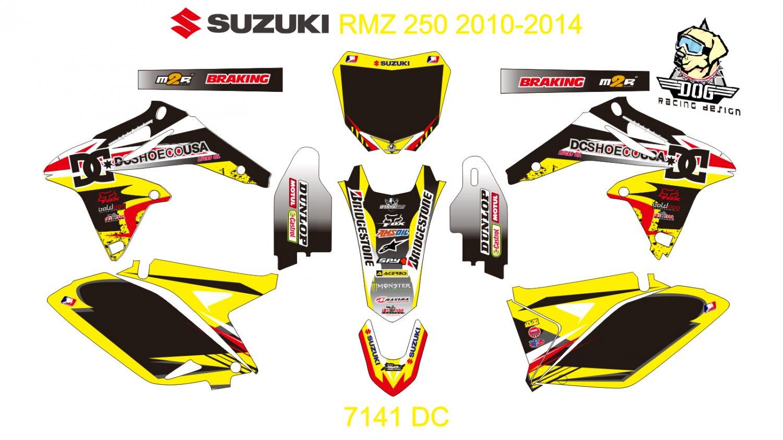 SUZUKI RMZ 250 2010-2014 GRAPHIC DECAL KIT CODE.7141