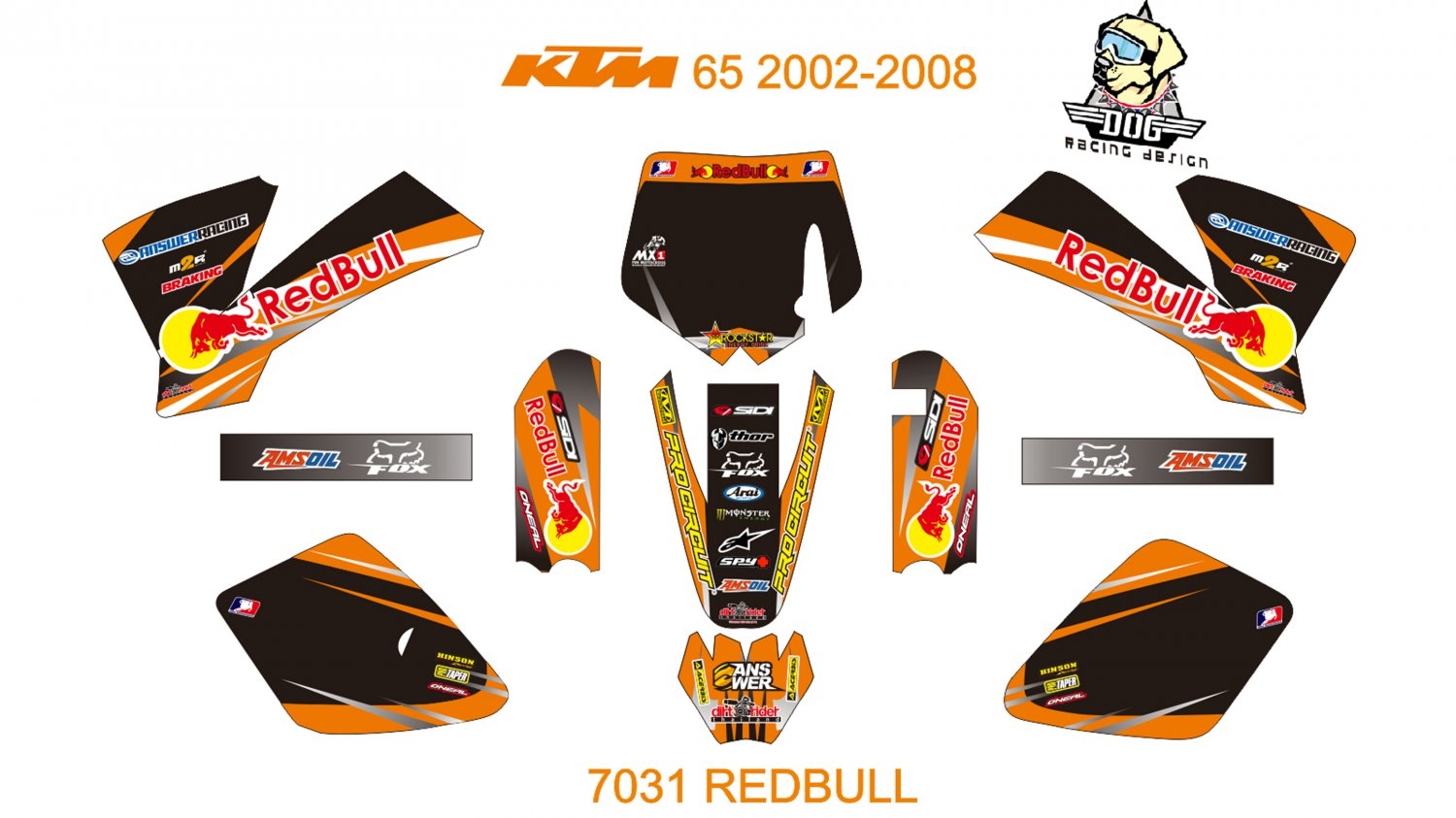KTM 65 2002-2008 GRAPHIC DECAL KIT CODE.7031