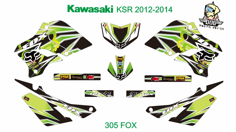 KAWASAKI KSR 2012-2014 GRAPHIC DECAL KIT CODE.305
