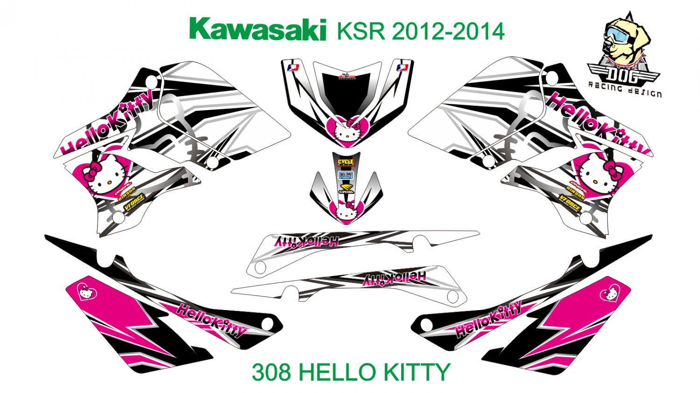 KAWASAKI KSR 2012-2014 GRAPHIC DECAL KIT CODE.308