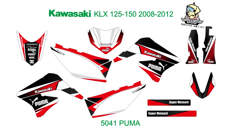 KAWASAKI KLX 125-150 2008-2012 GRAPHIC DECAL KIT CODE.5041