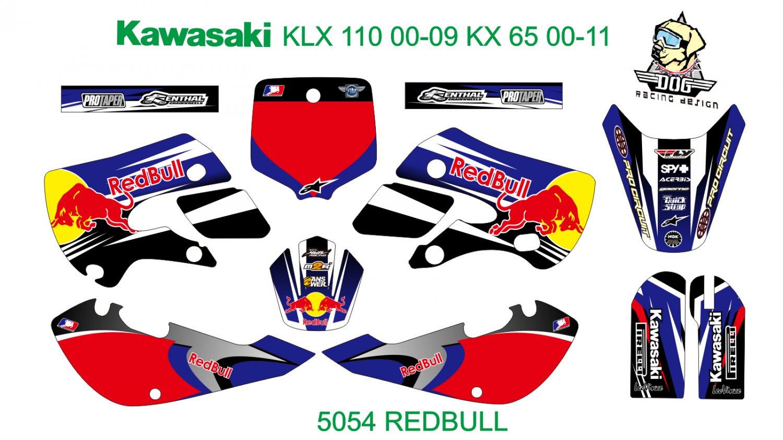 KAWASAKI KLX 110 2000-2009 KX 65 2000-2011 GRAPHIC DECAL KIT CODE.5054