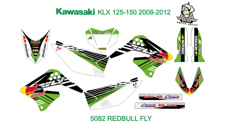 KAWASAKI KLX 125-150 2008-2012 GRAPHIC DECAL KIT CODE.5082