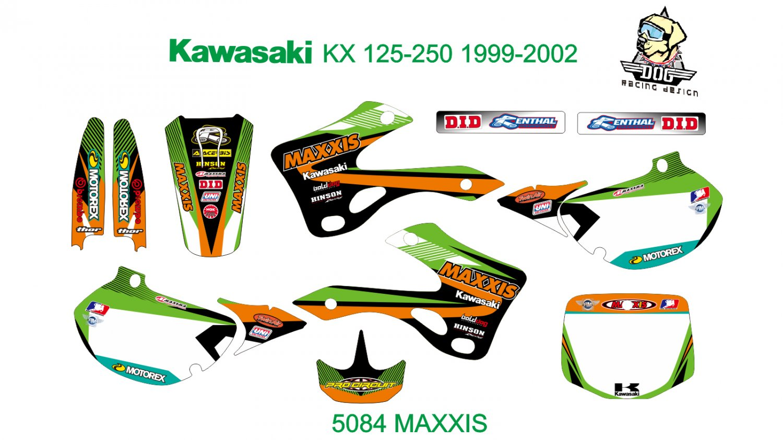 KAWASAKI KX 125-250 1999-2002 GRAPHIC DECAL KIT CODE.5084