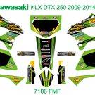 KAWASAKI KLX DTX 250 2009-2014 GRAPHIC DECAL KIT CODE.7106