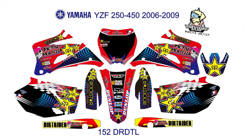 YAMAHA YZF 250-450 2006-2009 GRAPHIC DECAL KIT CODE.152
