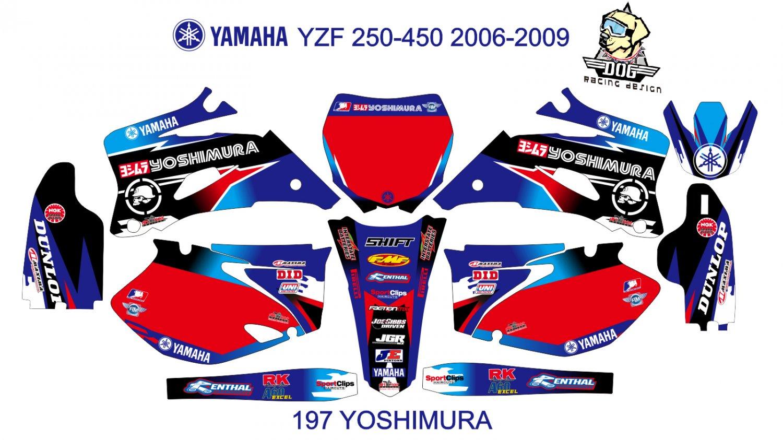 YAMAHA YZF 250-450 2006-2009 GRAPHIC DECAL KIT CODE.197