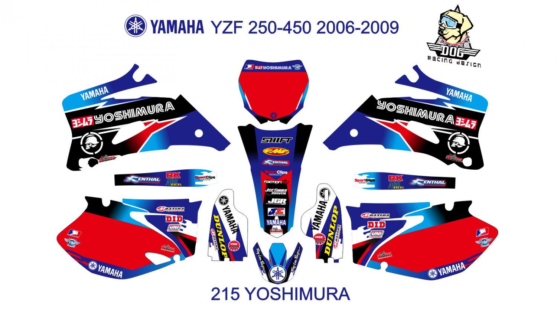 YAMAHA YZF 250-450 2006-2009 GRAPHIC DECAL KIT CODE.215