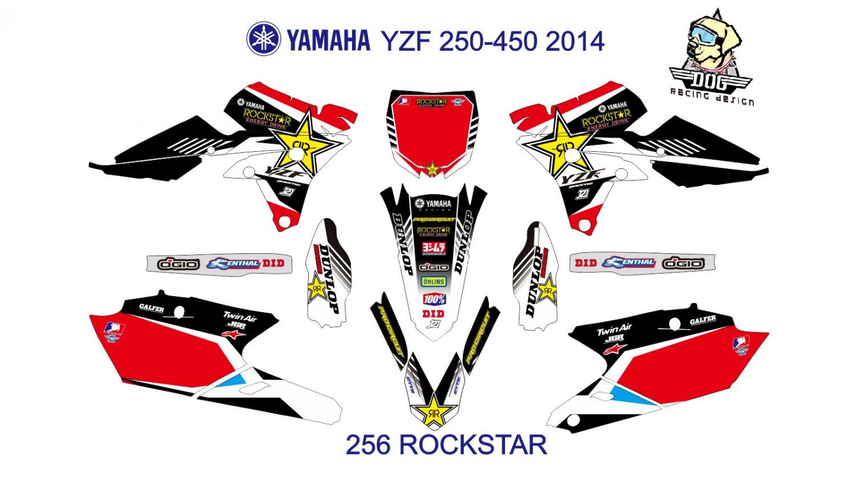YAMAHA YZF 250-450 2014 GRAPHIC DECAL KIT CODE.256