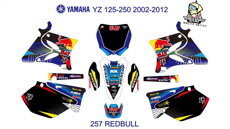 YAMAHA YZ 125-250 2002-2012 GRAPHIC DECAL KIT CODE.257