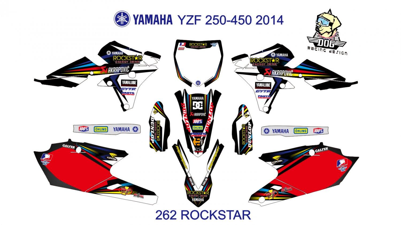 YAMAHA YZF 250-450 2014 GRAPHIC DECAL KIT CODE.262