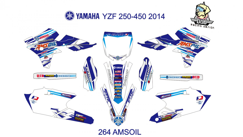 YAMAHA YZF 250-450 2014 GRAPHIC DECAL KIT CODE.264