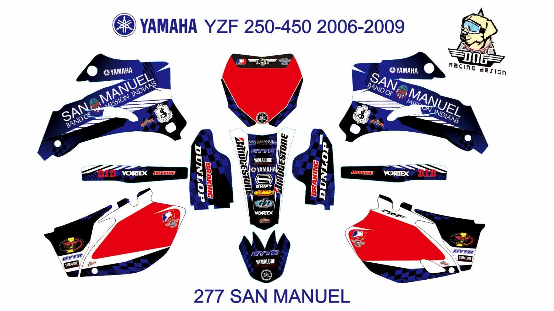 YAMAHA YZF 250-450 2006-2009 GRAPHIC DECAL KIT CODE.277