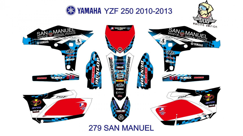 YAMAHA YZF 250 2010-2013 GRAPHIC DECAL KIT CODE.279