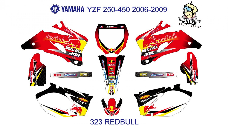 YAMAHA YZF 250-450 2006-2009 GRAPHIC DECAL KIT CODE.323