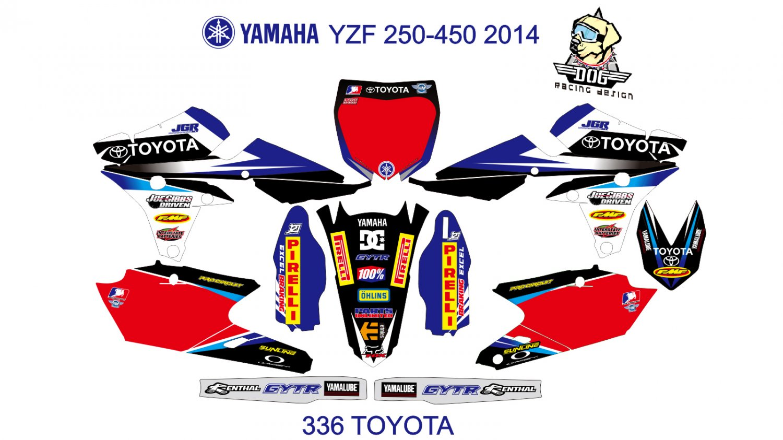 YAMAHA YZF 250-450 2014 GRAPHIC DECAL KIT CODE.336