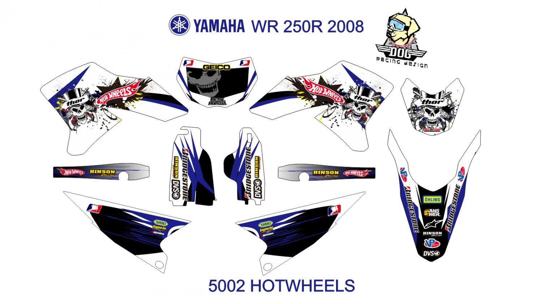 YAMAHA WR 250R 2008 GRAPHIC DECAL KIT CODE.5002