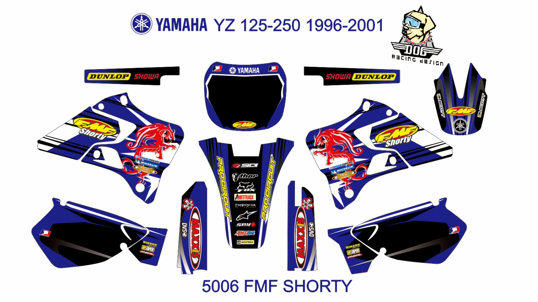 YAMAHA YZ 125-250 1996-2001 GRAPHIC DECAL KIT CODE.5006