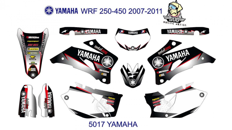YAMAHA WRF 250-450 2007-2011 GRAPHIC DECAL KIT CODE.5017