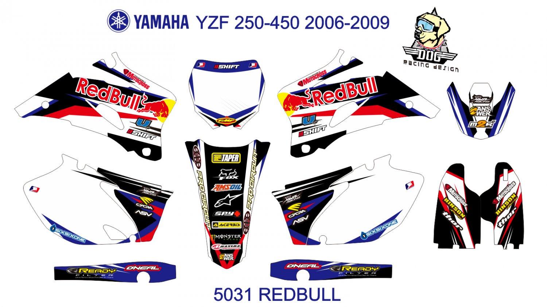 YAMAHA YZF 250-450 2006-2009 GRAPHIC DECAL KIT CODE.5031