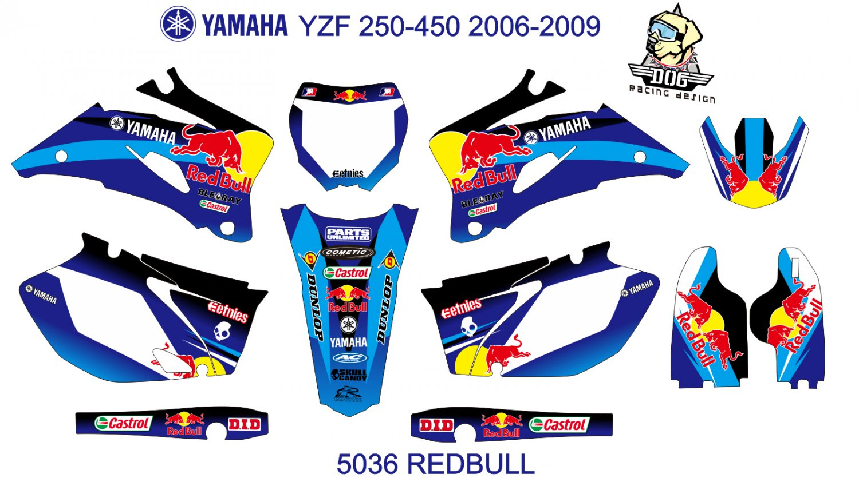 YAMAHA YZF 250-450 2006-2009 DECAL KIT CODE.5036