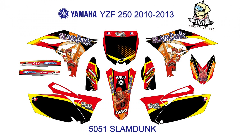 YAMAHA YZF 250 2010-2013 GRAPHIC DECAL KIT CODE.5051