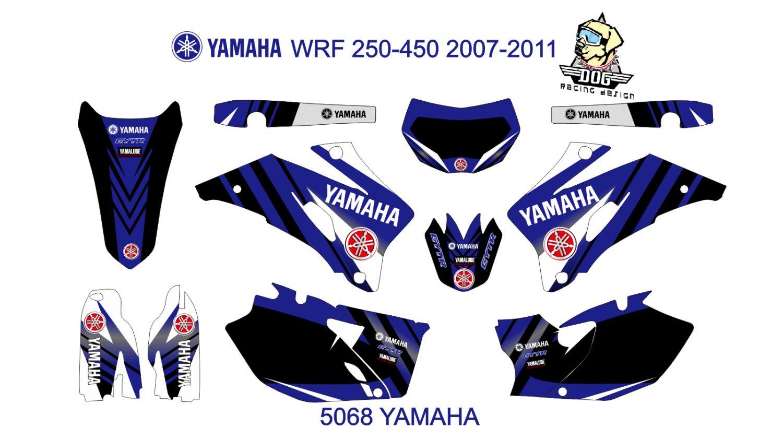 YAMAHA WRF 250-450 2007-2011 GRAPHIC DECAL KIT CODE.5068