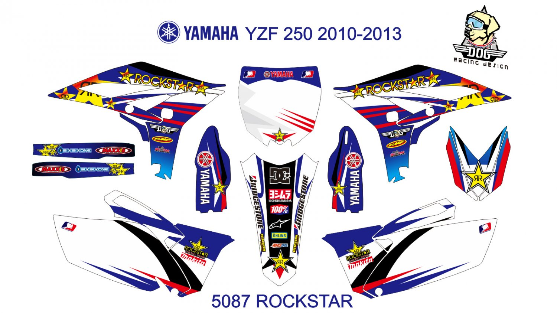 YAMAHA YZF 250 2010-2013 GRAPHIC DECAL KIT CODE.5087