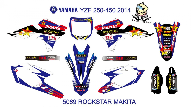 YAMAHA YZF 250-450 2014 GRAPHIC DECAL KIT CODE.5089