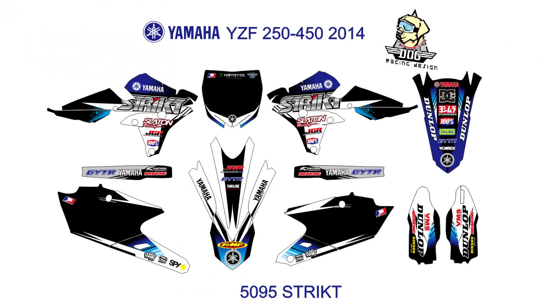 YAMAHA YZF 250-450 2014 GRAPHIC DECAL KIT CODE.5095