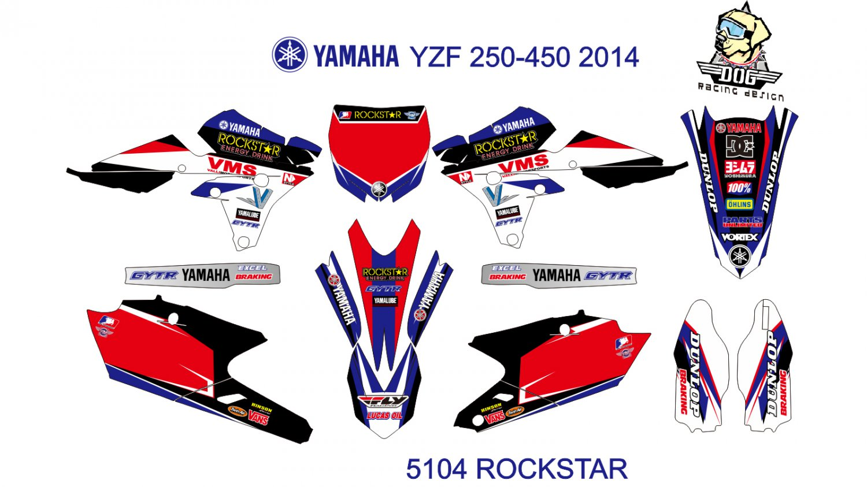 YAMAHA YZF 250-450 2014 GRAPHIC DECAL KIT CODE.5104