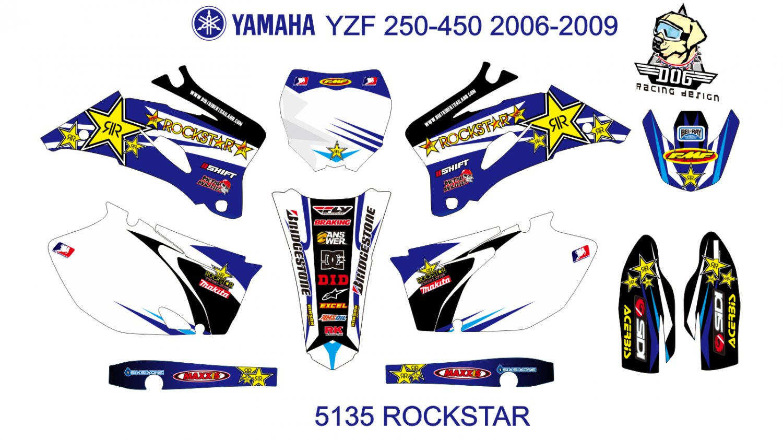 YAMAHA YZF 250-450 2006-2009 GRAPHIC DECAL KIT CODE.5135