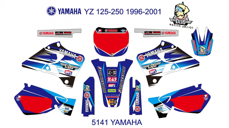 YAMAHA YZ 125-250 1996-2001 GRAPHIC DECAL KIT CODE.5141