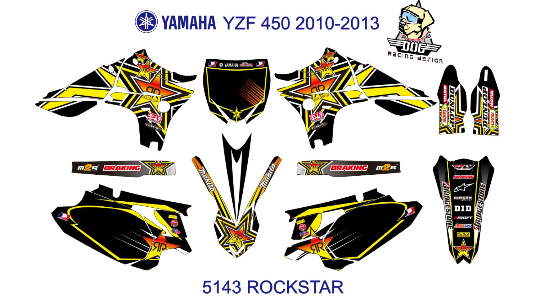 YAMAHA 450 2010-2013 GRAPHIC DECAL KIT CODE.5143