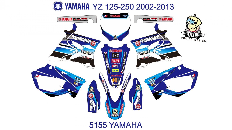 YAMAHA YZ 125-250 2002-2013 GRAPHIC DECAL KIT CODE.5155