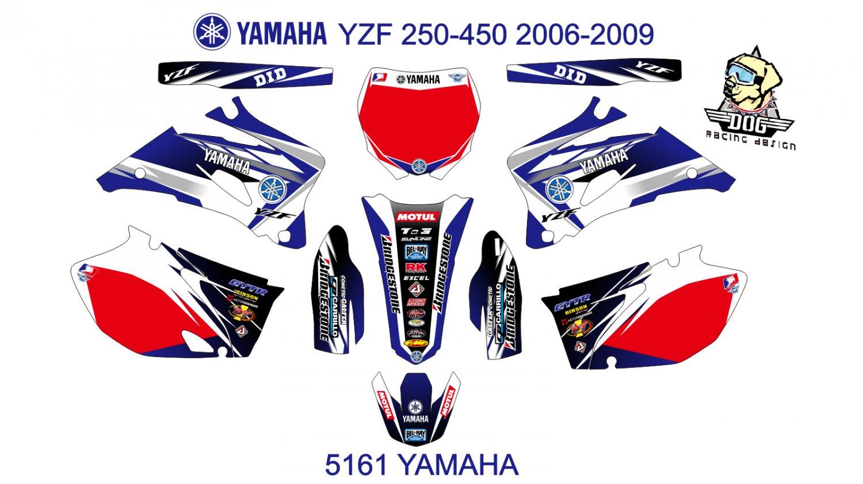 YAMAHA YZF 250-450 2006-2009 GRAPHIC DECAL KIT CODE.5161