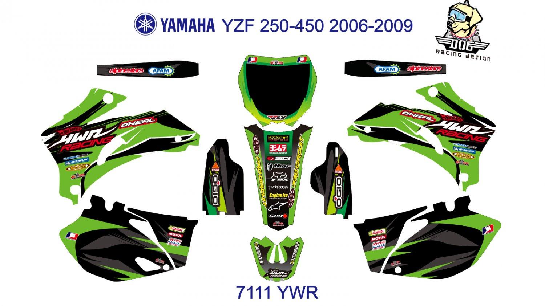 YAMAHA YZF 250-450 2006-2009 GRAPHIC DECAL KIT CODE.7111