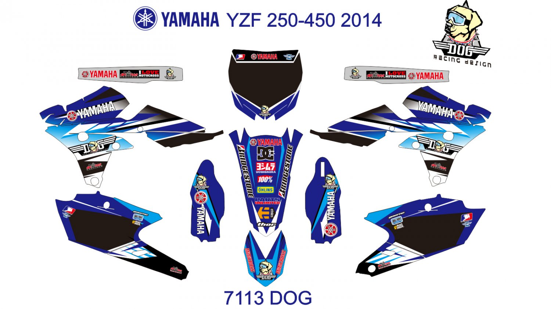 YAMAHA YZF 250-450 2014 GRAPHIC DECAL KIT CODE.7113
