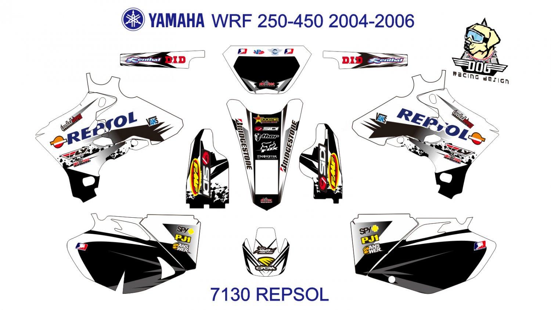 YAMAHA WRF 250-450 2004-2006 GRAPHIC DECAL KIT CODE.7130