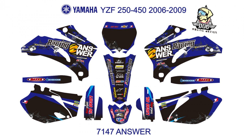 YAMAHA YZF 250-450 2006-2009 GRAPHIC DECAL KIT CODE.7147