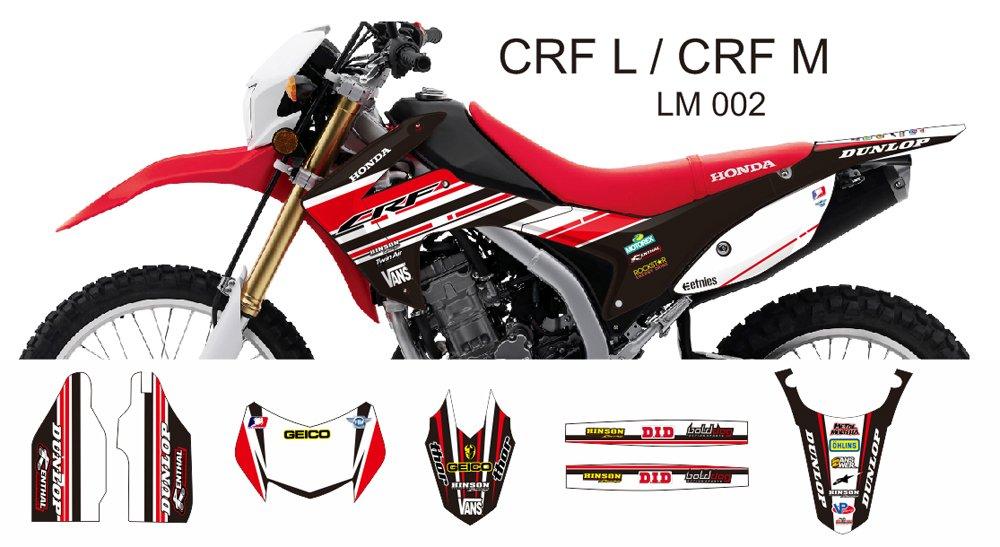 HONDA CRF L CRF M 2013-2014 GRAPHIC DECAL KIT CODE.LM 002