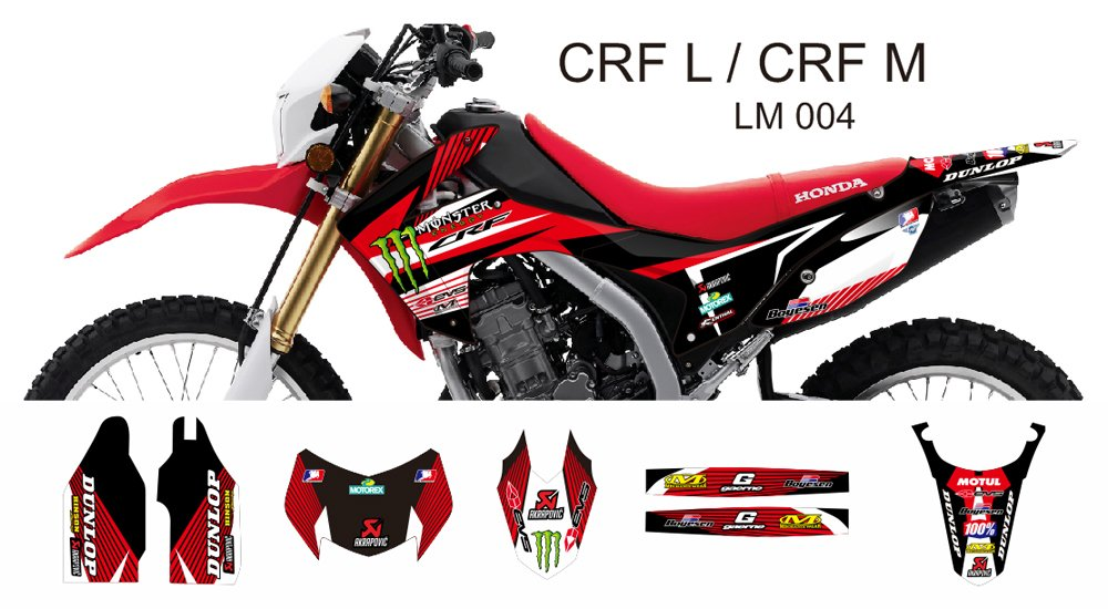 HONDA CRF L CRF M 2013-2014 GRAPHIC DECAL KIT CODE.LM 004