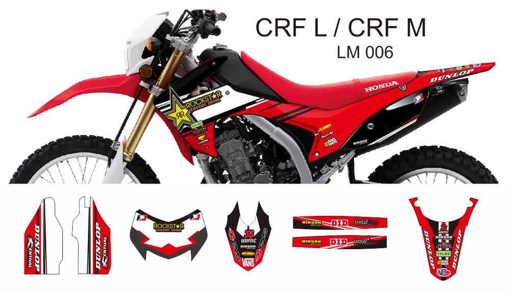 HONDA CRF L CRF M 2013-2014 GRAPHIC DECAL KIT CODE.LM 006