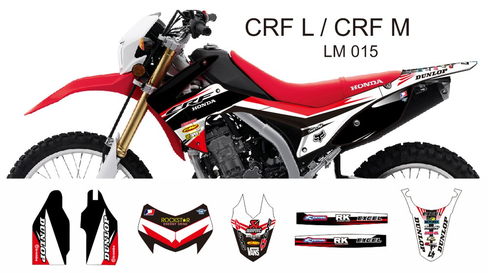 HONDA CRF L CRF M 2013-2014 GRAPHIC DECAL KIT CODE.LM 015