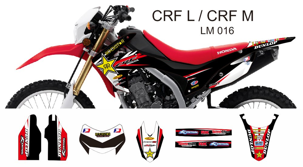 HONDA CRF L CRF M 2013-2014 GRAPHIC DECAL KIT CODE.LM 016
