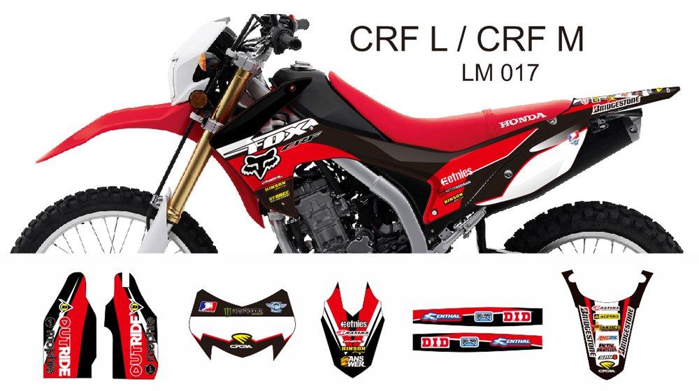 HONDA CRF L CRF M 2013-2014 GRAPHIC DECAL KIT CODE.LM 017