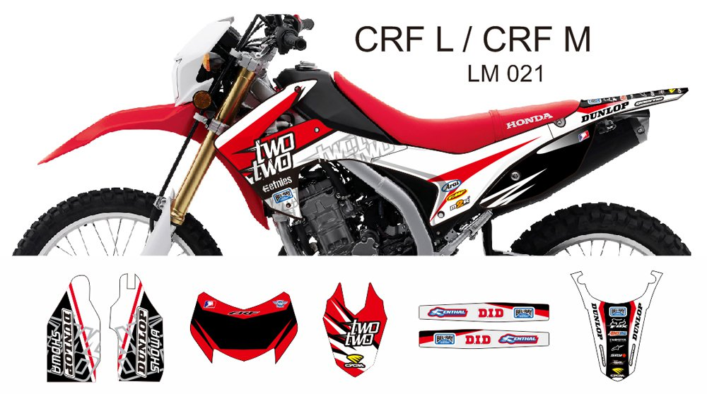 HONDA CRF L CRF M 2013-2014 GRAPHIC DECAL KIT CODE.LM 021