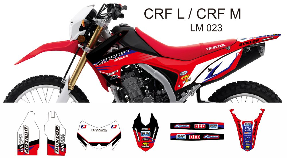 HONDA CRF L CRF M 2013-2014 GRAPHIC DECAL KIT CODE.LM 023