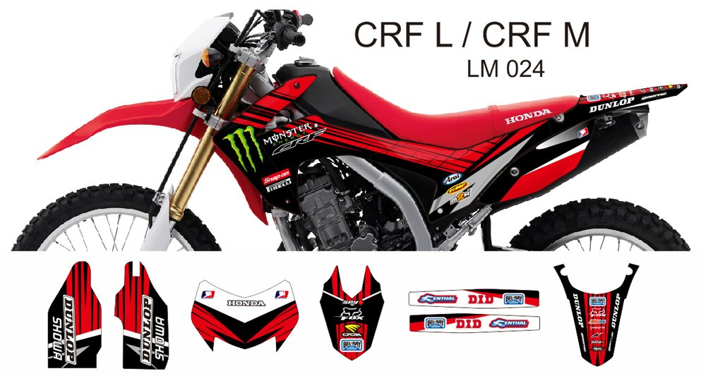 HONDA CRF L CRF M 2013-2014 GRAPHIC DECAL KIT CODE.LM 024